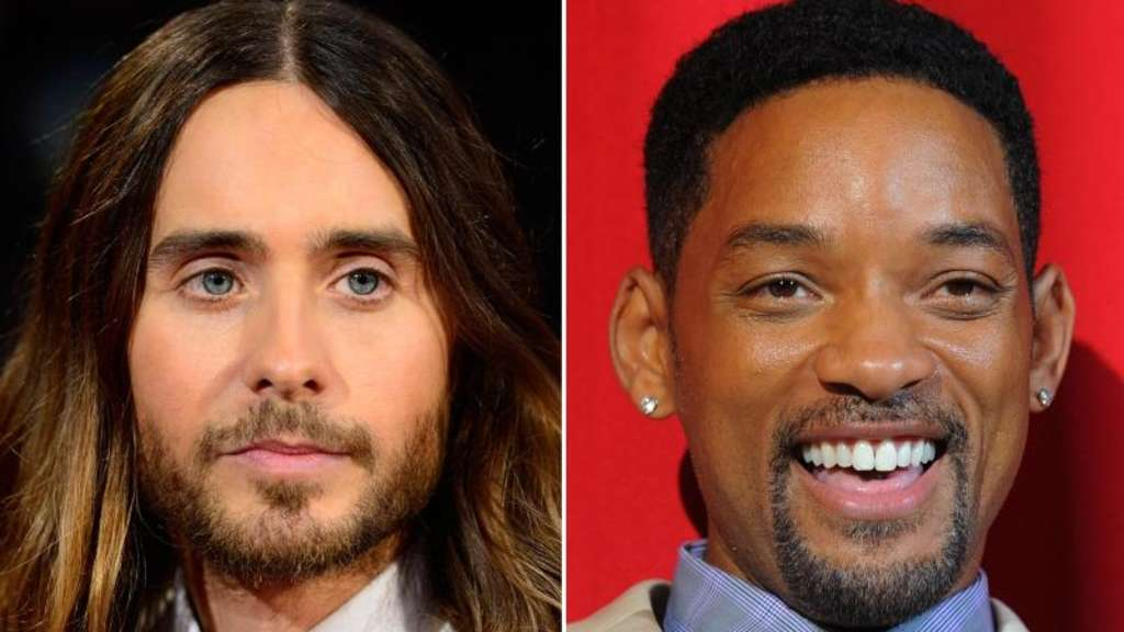 Die US-Schauspieler Jared Leto (l) und Will Smith. Fotos: Paul Buck/Jens Kalaene Foto: Buck;Kalaene