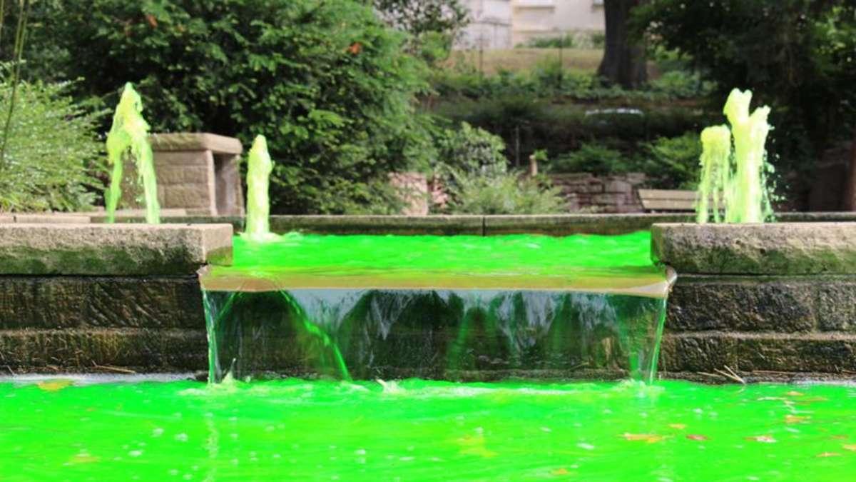 heidelberg weststadt neon gr nes wasser im stadtpark. Black Bedroom Furniture Sets. Home Design Ideas