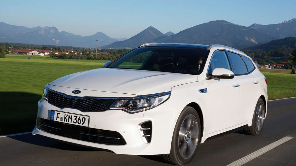 Optisch ein Dynamiker: der Kia Optima Sportswagon in GT-Line.