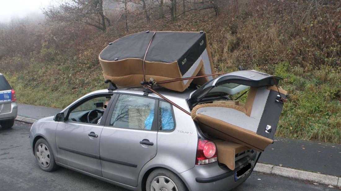 VW Polo Couch Sofa an Bord