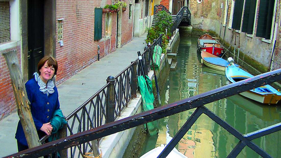 Autorin Sieglinde Köhle: Sie kennt das echte Venedig hinter der touristischen Fassade.