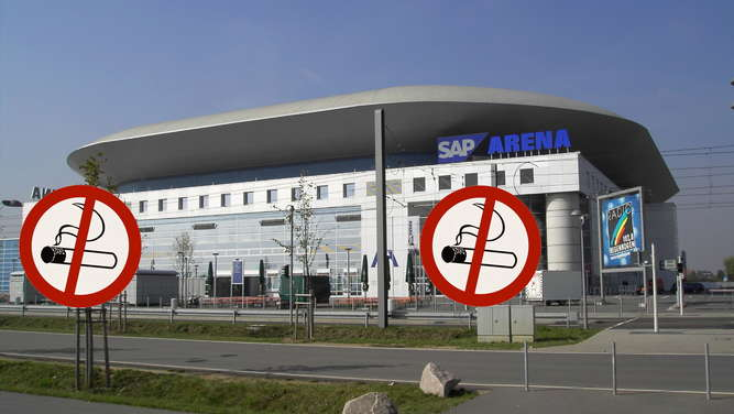 Totales Rauchverbot in SAP Arena!