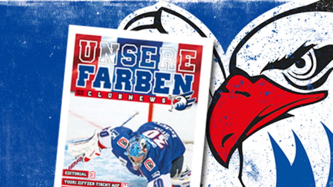 """""""Unsere Farben"""", das Fan-Magazin der Adler Mannheim im """"Mannheimer Morgen""""."""