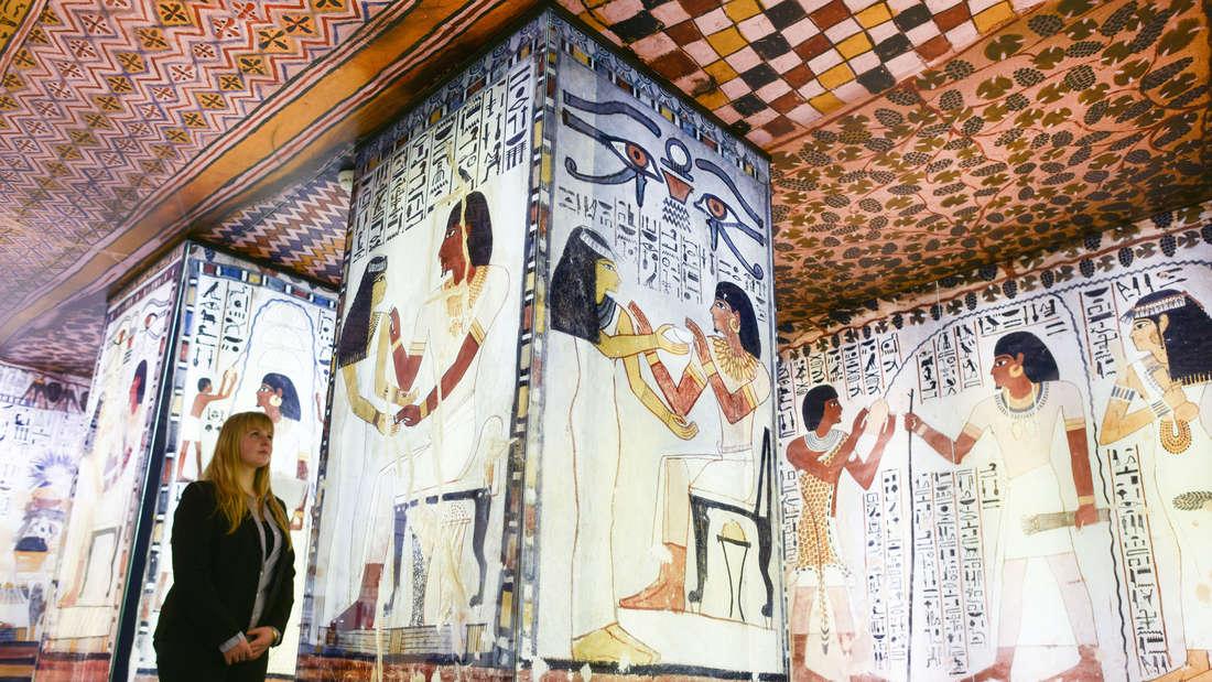 """Besitzer des """"Familienpass plus""""können Dauerausstellungen z.B. im Reiss-Engelhorn-Museum kostenlos erleben – hier die aktuelle Ägypten-Schau."""