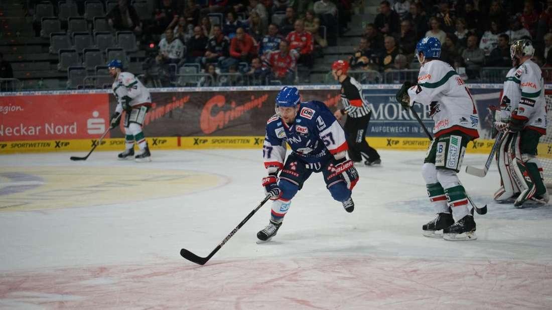 eishockey adler mannheim gegen Augsburger Panther 9. Januar