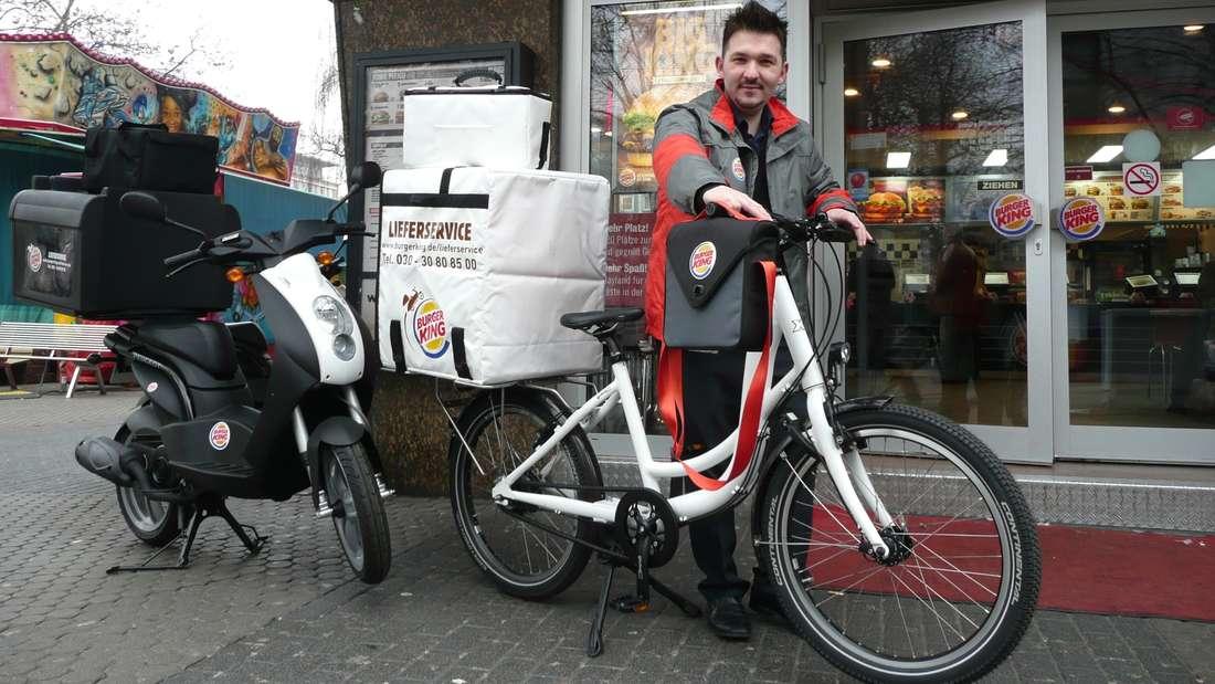 Der Burger King im Quadrat O7 ist die erste Filiale mit Lieferservice in Deutschland.