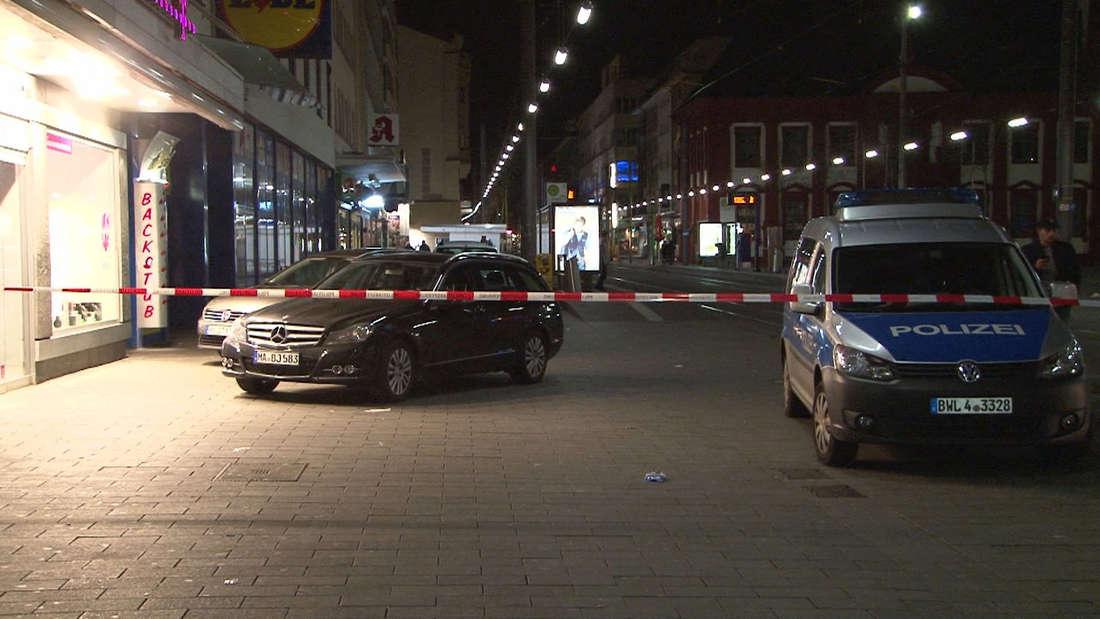 Schießerei, Mannheim, Innenstadt