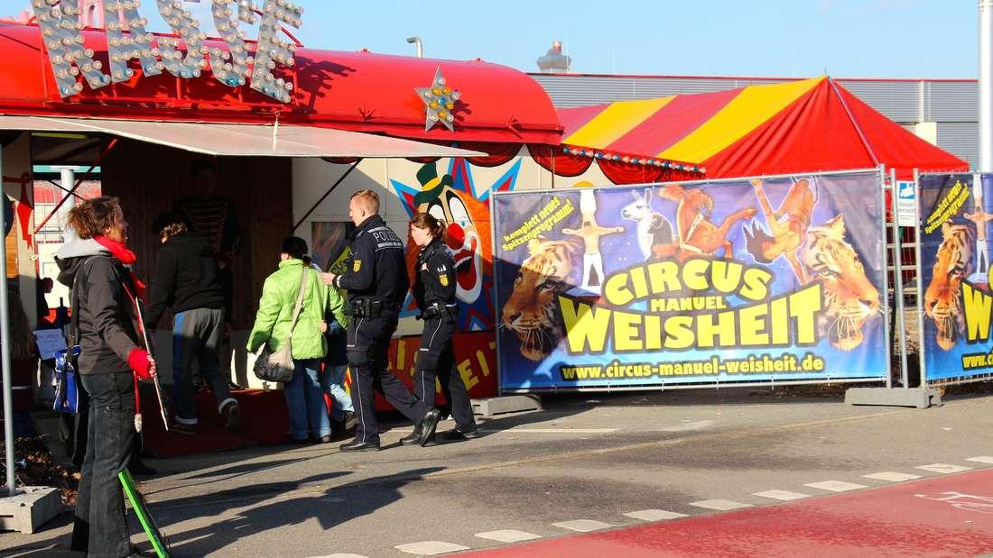 Erneuter Protest von Tierschützern gegen den Circus Manuel Weisheit