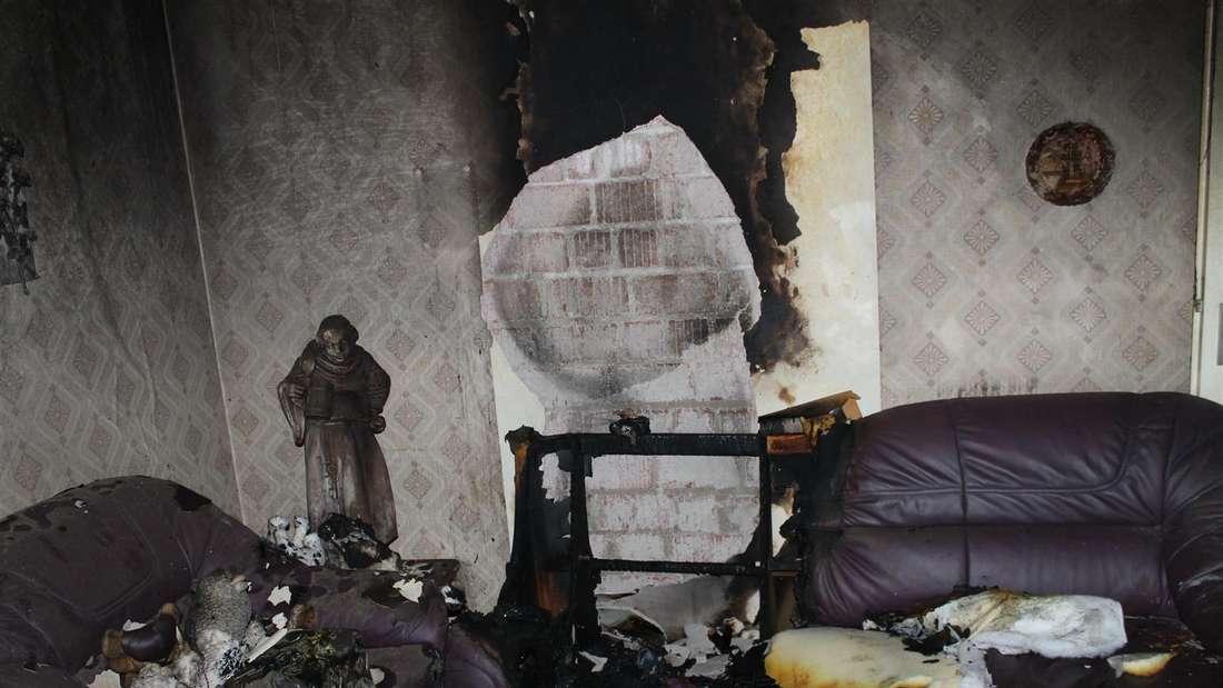 Bei dem Brand in LU-Mundenheim kam eine Frau ums Leben.