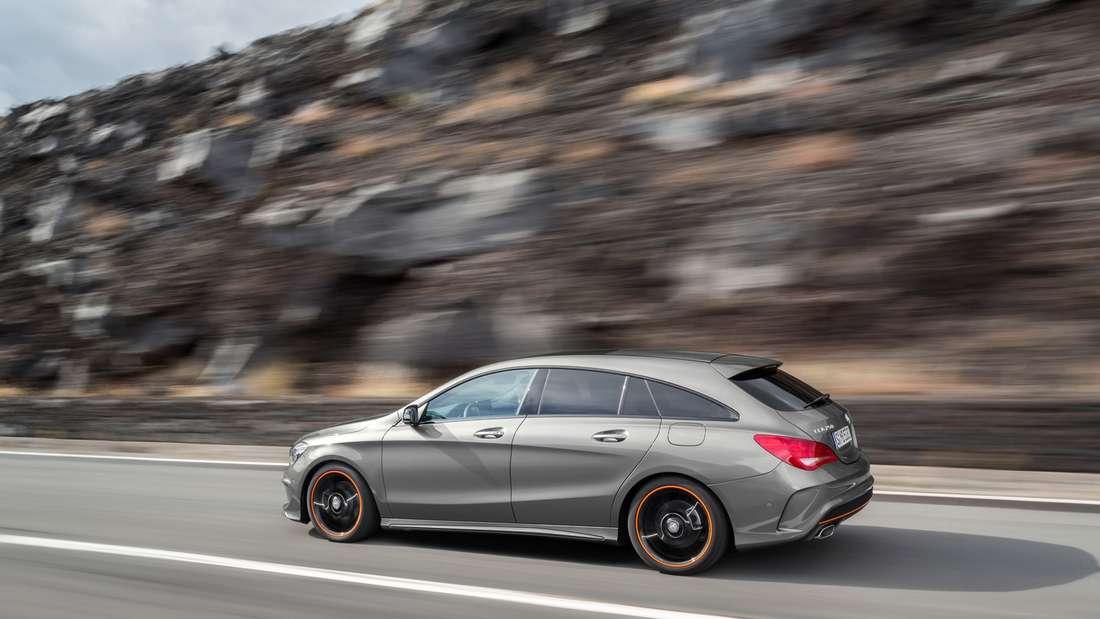 Mercedes CLA Shooting Brake: Volle Punktzahl für die Optik: Fließende Formen wie die abfallende Dachlinie erzeugen eine elegante Gesamtanmutung.