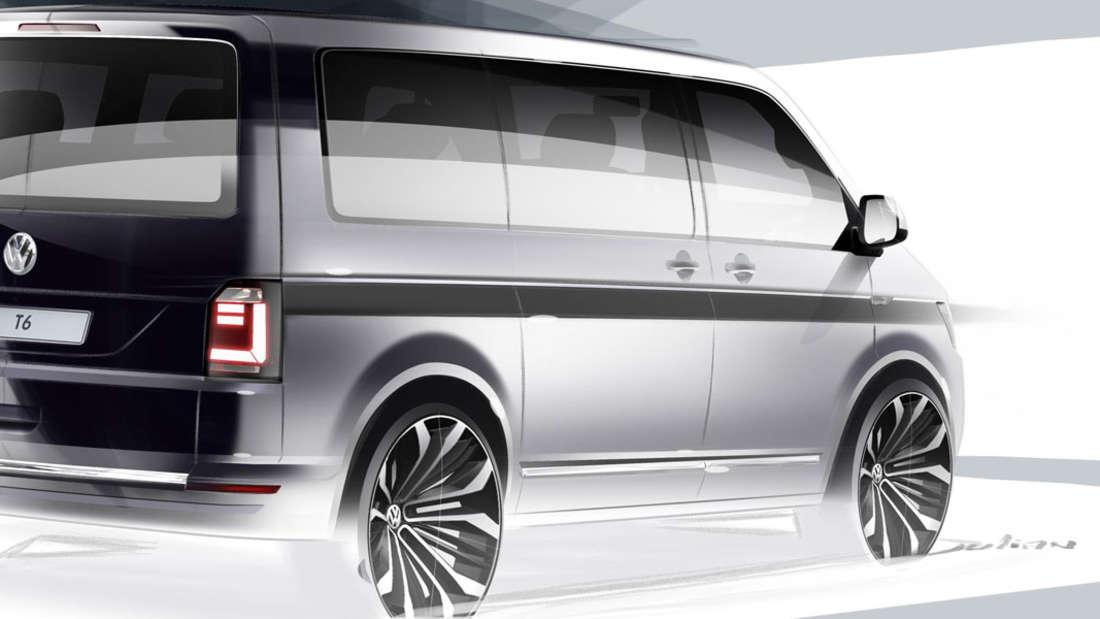VW Bus T6 Designskizze