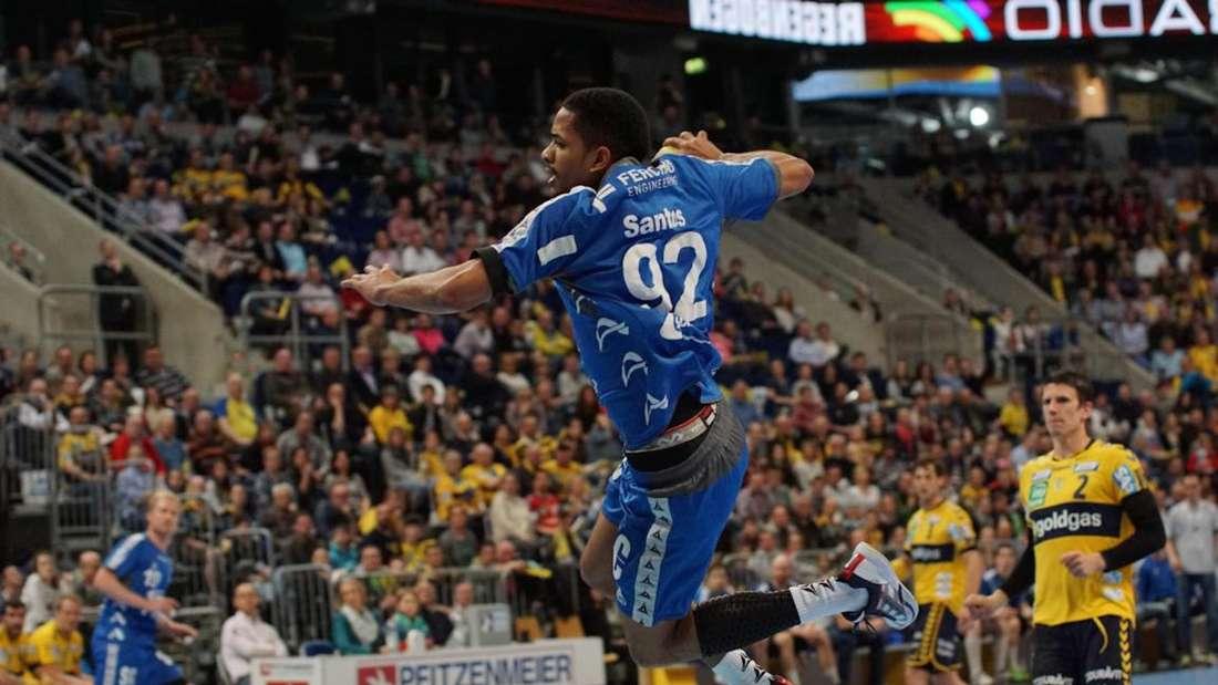 Die Löwen besiegen am Samstag, 28. März, den VfL Gummersbach in der SAP Arena.