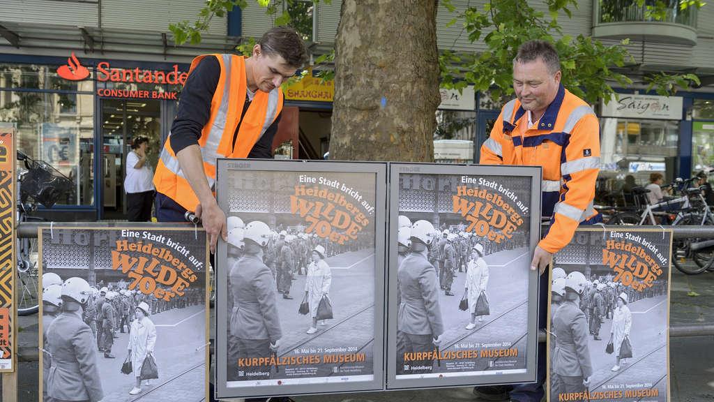 Heidelberg: Halbzeit bei der Montage der neuen Metallrahmen für ...