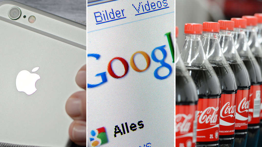 Apple, Google, Coca Cola