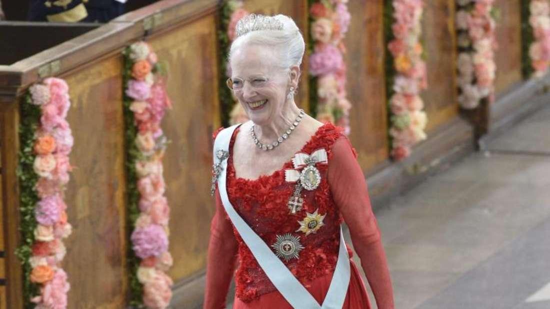 Königin Margethe setzt auf Rot. Foto:Jonas Ekströmer/TT