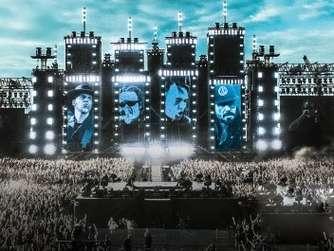 Hockenheim Der Aufbau Der Riesen Bühne Für Die Vier Konzerte Der