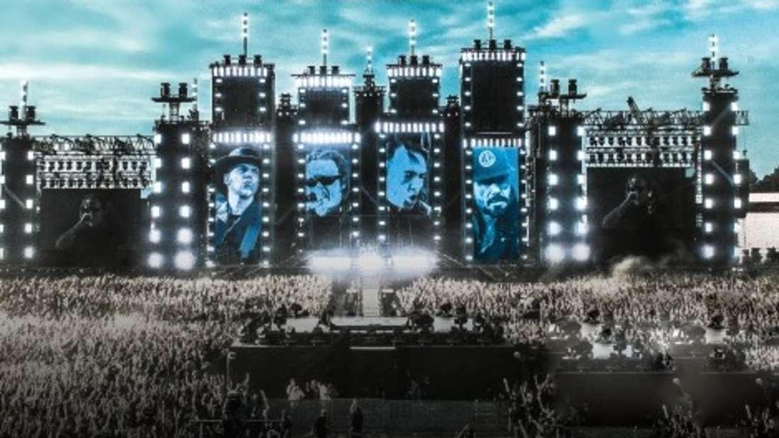 Spektakulär! So wird die Mega-Bühne der Onkelz auf dem Hockenheimring aussehen.