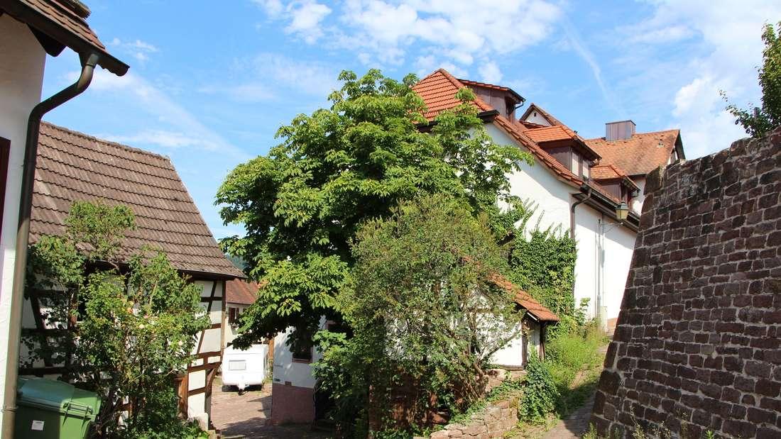 Der historische Ortskern von Dilsberg.