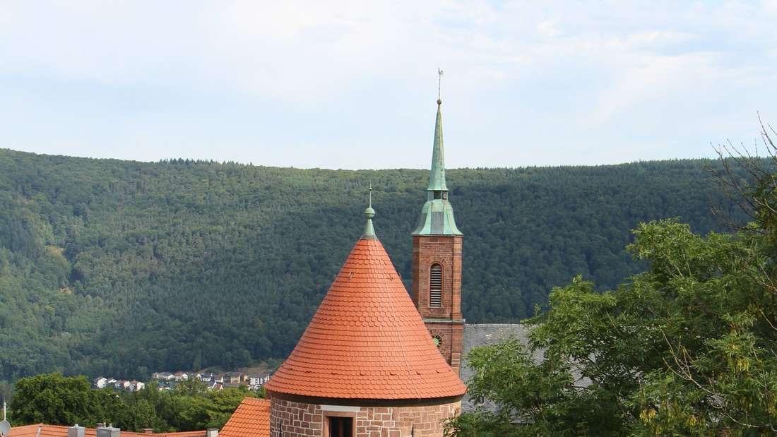 Der Turm bei der katholischen Kirche ist heute in Privatbesitz.