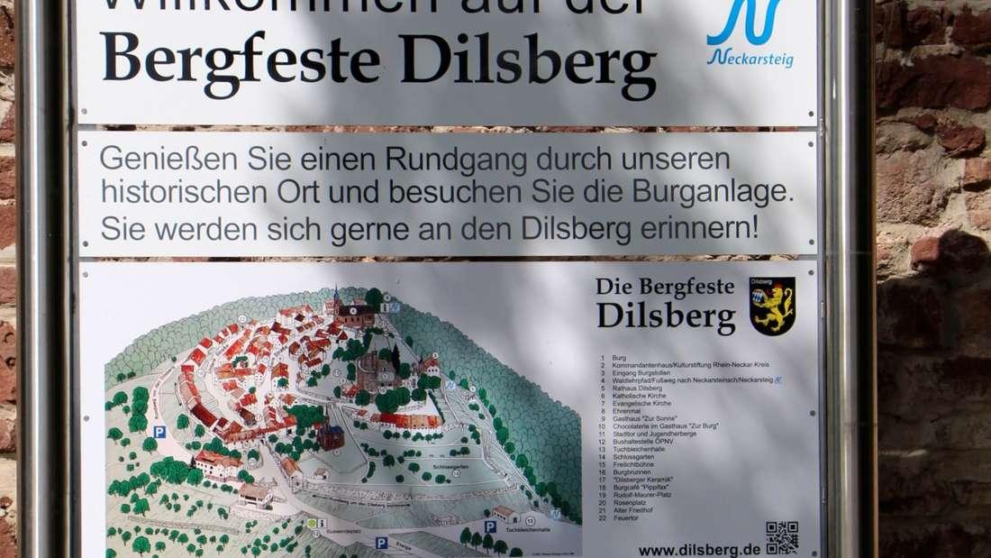 Dilsberg liegt auf der Wanderroute des Neckarsteig.