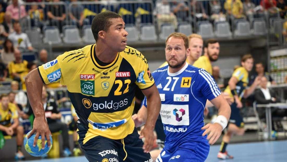 Mads Mensah Larsen steuerte sieben Treffer zum Löwen-Sieg bei.