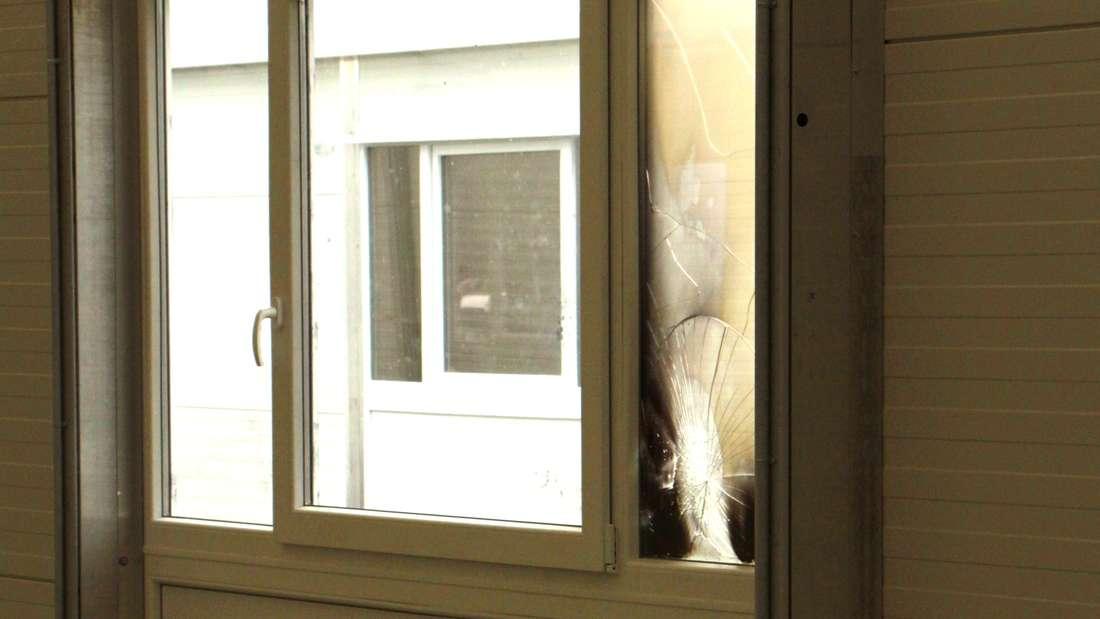 Glücklicherweise wurde lediglich das Fenster beschädigt.
