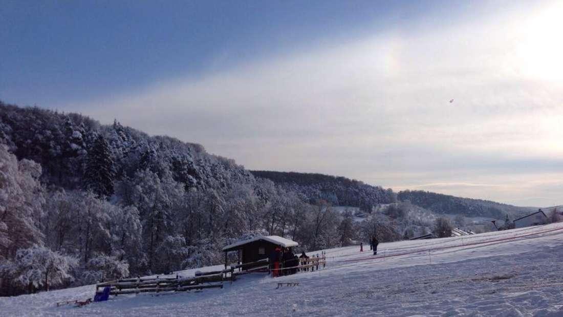 Der Skilift des SC Mosbach in Nüstenbach.