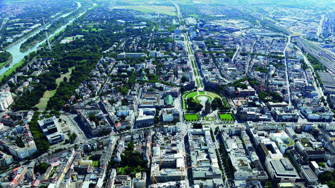 Luftaufnahme Stadtquartier Q6 Q7, Mannheim von oben