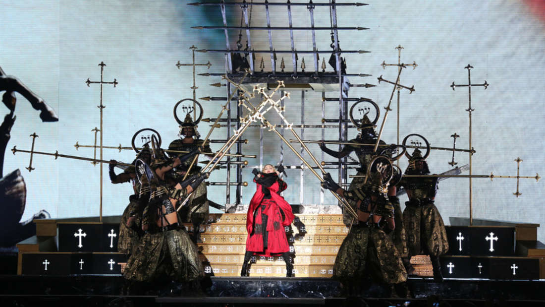 """Weltstar Madonna macht am Sonntagabend mit ihrer """"Rebel Heart World Tour 2015"""" Halt in Mannheim."""