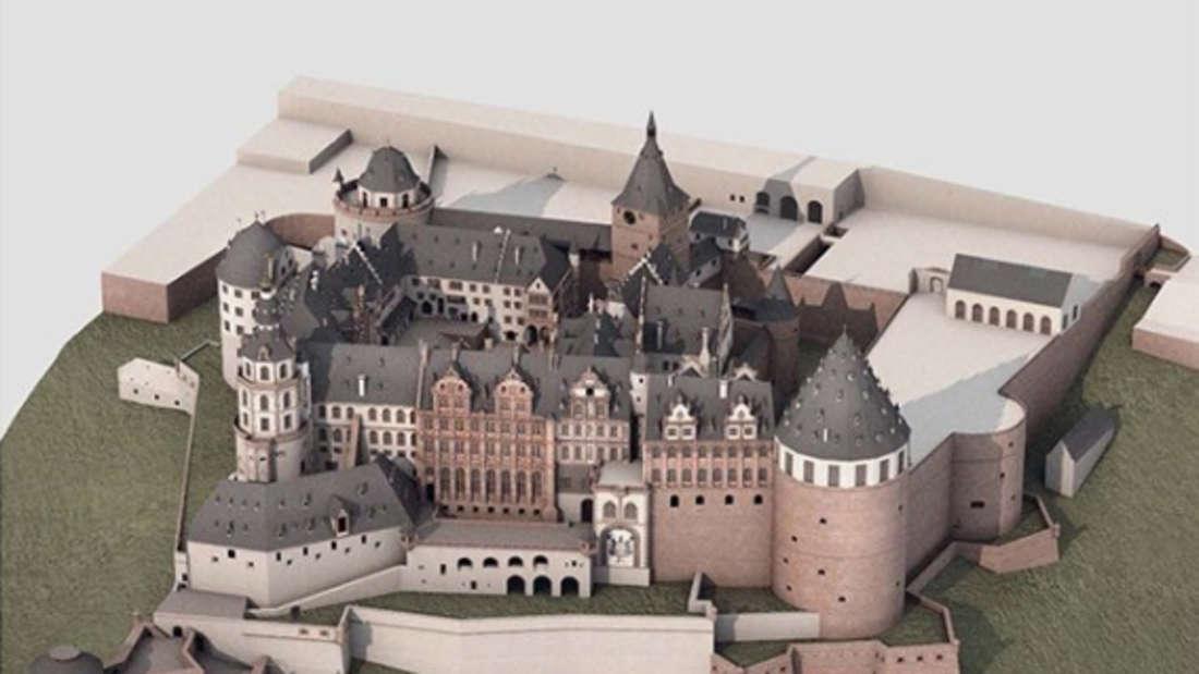 Rekonstruktion des Schlosses im Jahr 1683.
