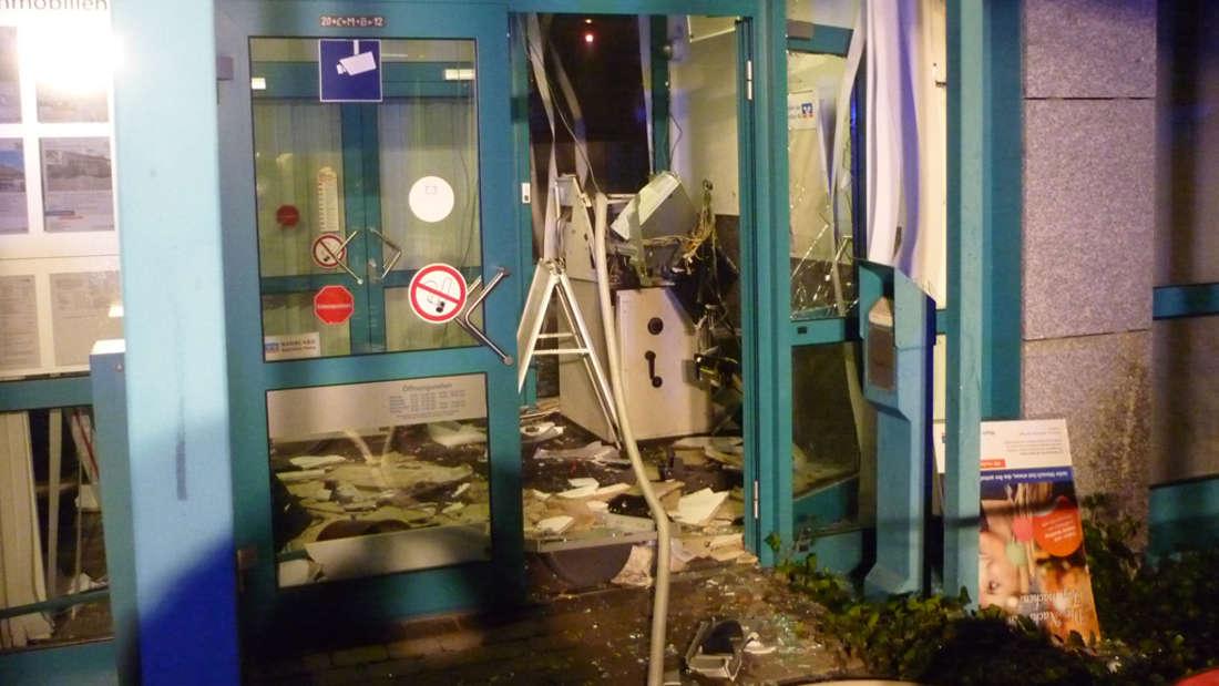 Gesprengter Geldautomat (C) Feuerwehr Neuhofen