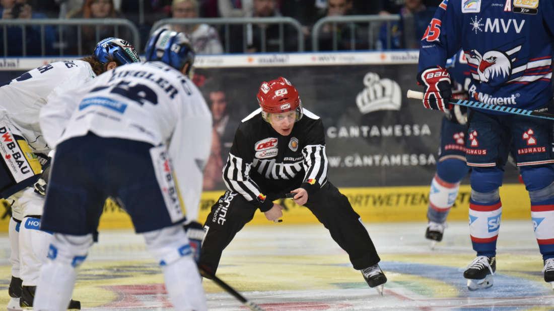Die Adler Mannheim gewinnen gegen die Eisbären Berlin mit 3:2.