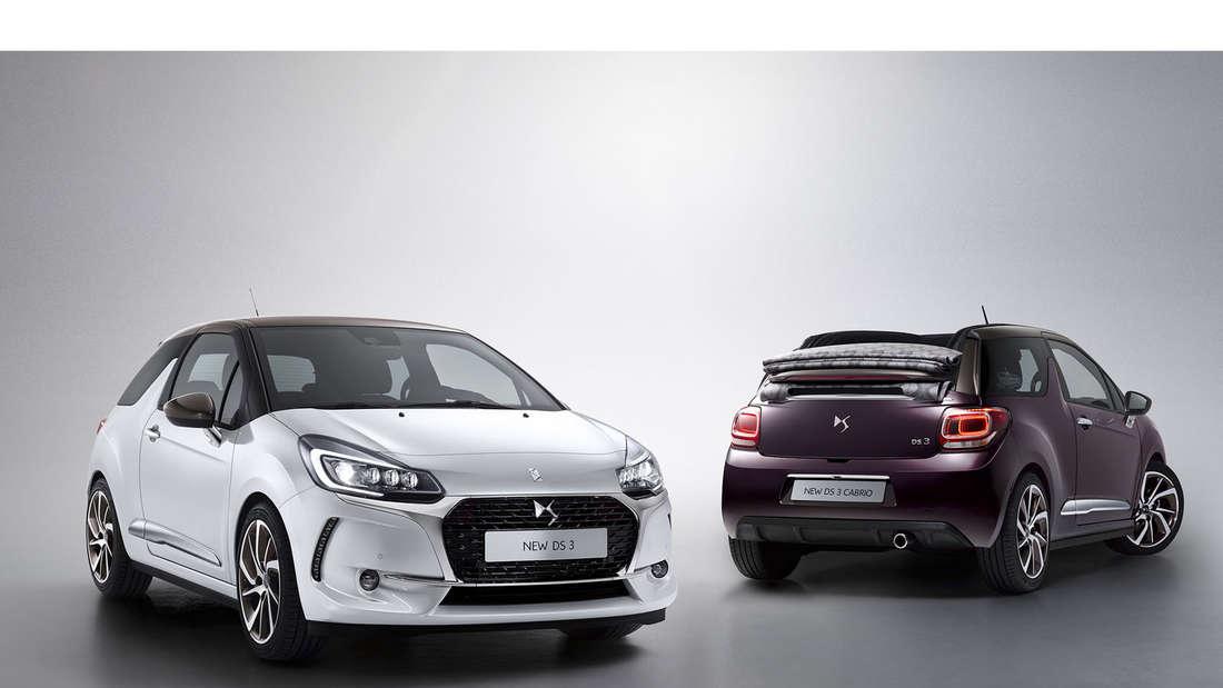 So sieht der neue DS3 und das DS 3 Cabrio aus.
