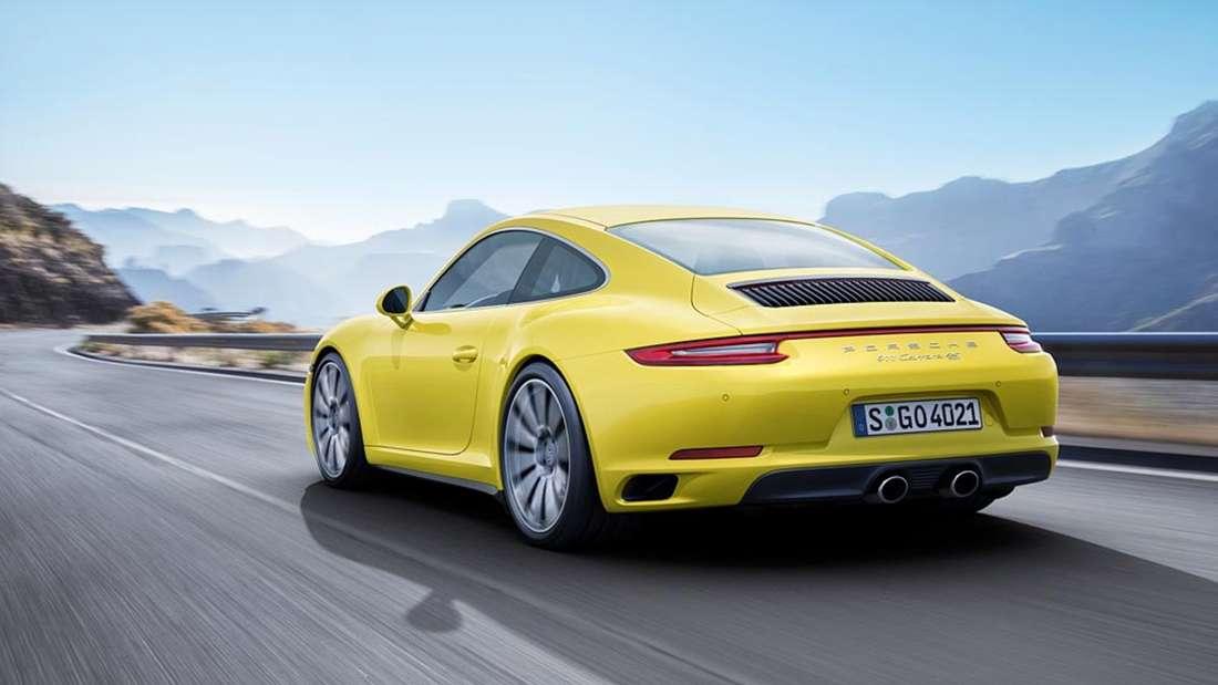 Brüllender Sound: Eine Sportauspuffanlage braucht der Porsche 911 Turbo S nicht.