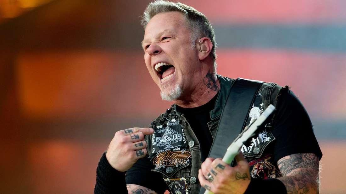 James Hetfield, Sänger und Gitarrist der US-amerikanischen Metalband Metallica