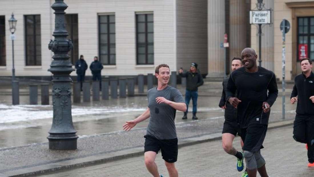 Facebook-Gründer Mark Zuckerberg hält sich fit. Foto: Paul Zinken