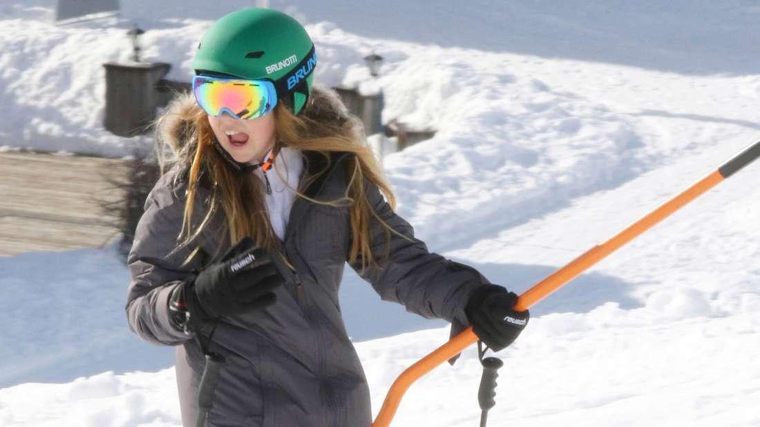 Prinzessin Alexia hat sich beim Skifahren das Bein gebrochen.