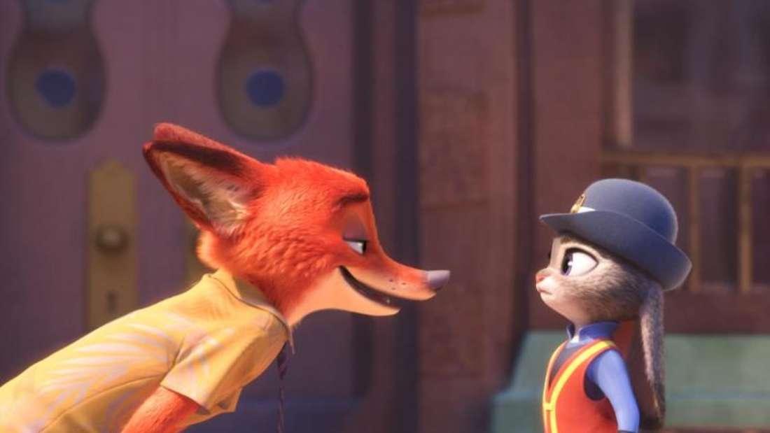 Fuchs Nick Wilde und Häsin Judy Hopps in «Zoomania». Foto: Walt Disney Studios