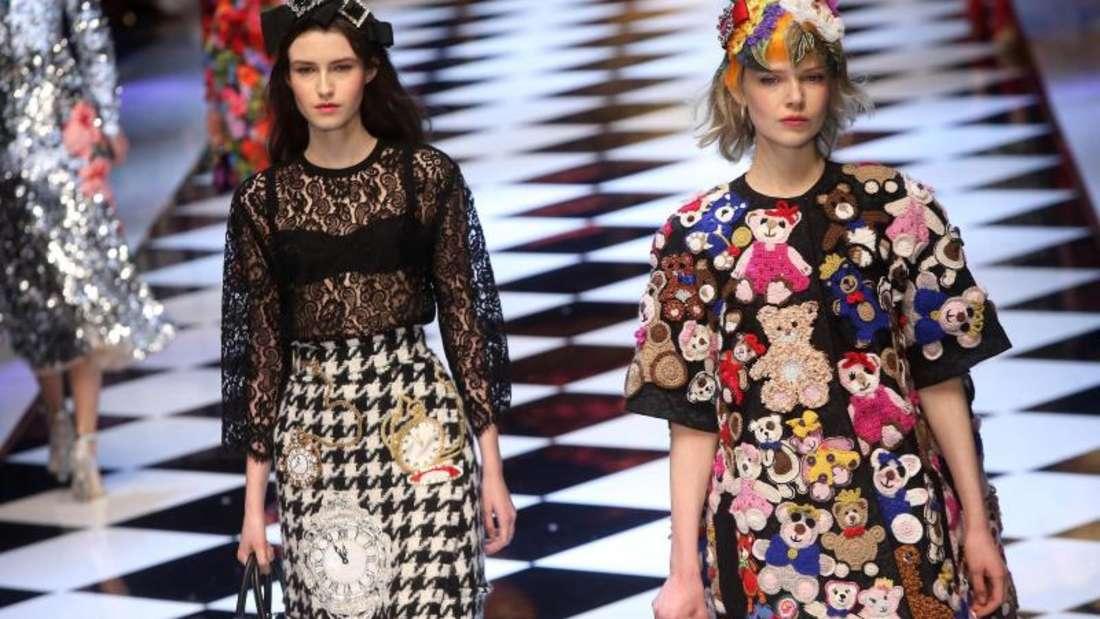 Keine Angst vor Farben bei Dolce & Gabbana in Mailand. Foto: Matteo Bazzi