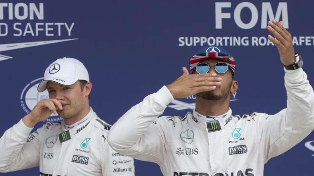Lewis Hamilton und Nico Rosberg kämpfen verbissen um die WM-Krone. Foto:Valdrin Xhemaj