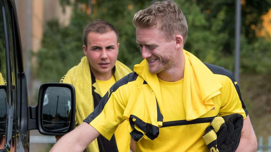 André Schürrle und Mario Götze beim Leistungstest.