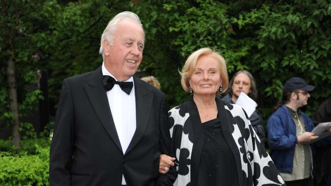 Ruth Maria Kubitschek und ihr mittlerweile verstorbener Lebensgefährte Wolfgang Rademann 2013 in München. Foto: Ursula Düren