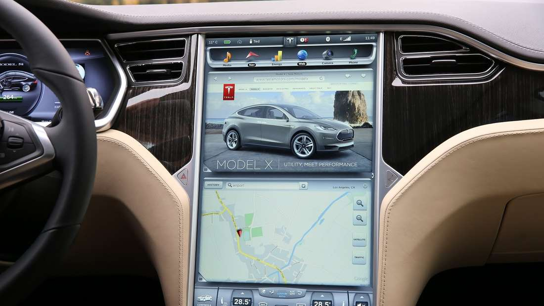 Das Monster-Display im Tesla X.