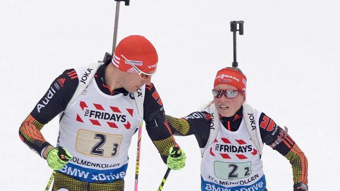 Arnd Peiffer und Franziska Hildebrand starten in die Saison. Foto: Hendrik Schmidt