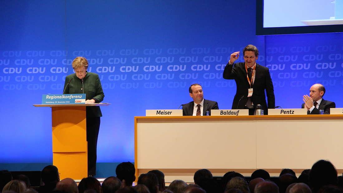 Christian Baldauf, Bezirksvorsitzender der CDU Rheinhessen-Pfalz, kam erst kurz vor Veranstaltungsende.