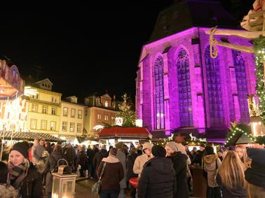 Pinker Weihnachtsmarkt.Heidelberg Altstadt Dritter Pink Monday Im Rahmen Des