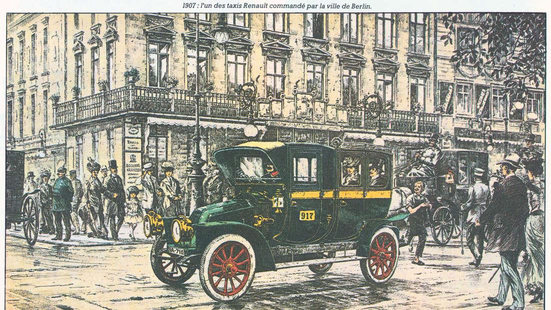 Renault Taxi in Berlin 1907.