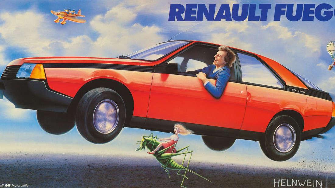 Renault Fuego Werbung von Helnwein, 1985.