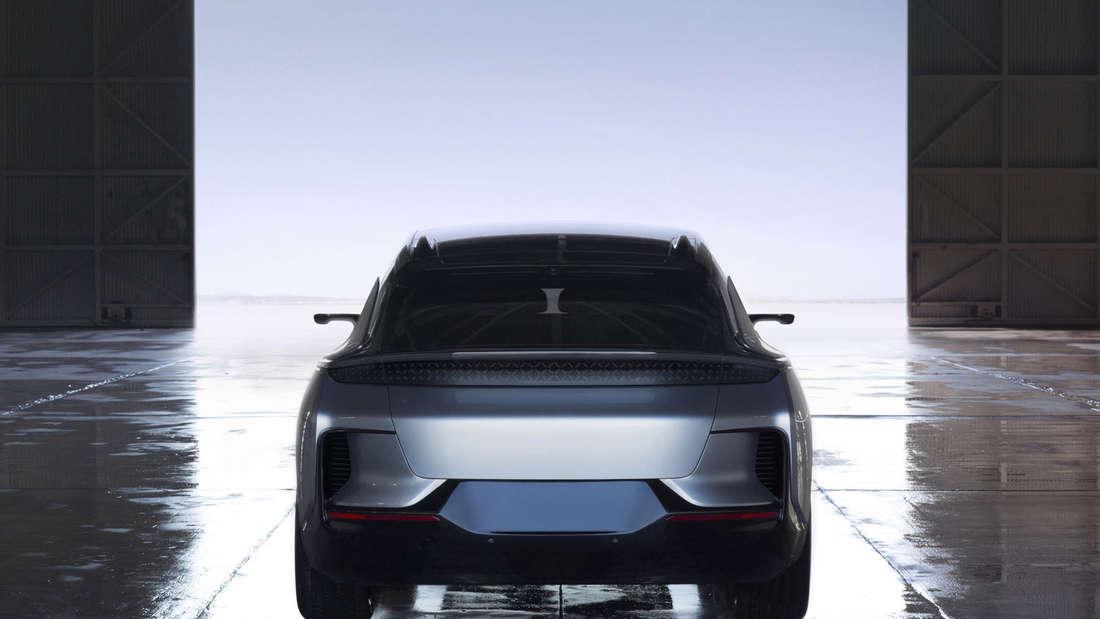 Auf der Technik-Messe CES in Las Vegas zeigt die Autofirma Faraday Future den FF91.