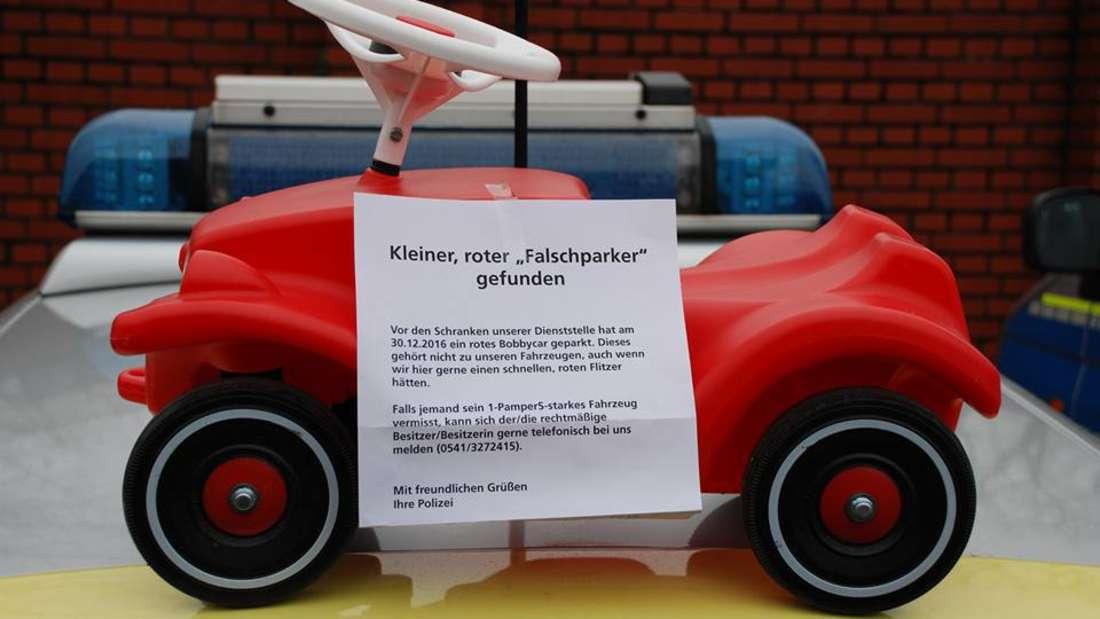 Polizei sucht Bobbycar-Falschparker
